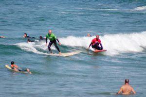 Galería fotos clases de surf en mayo 07