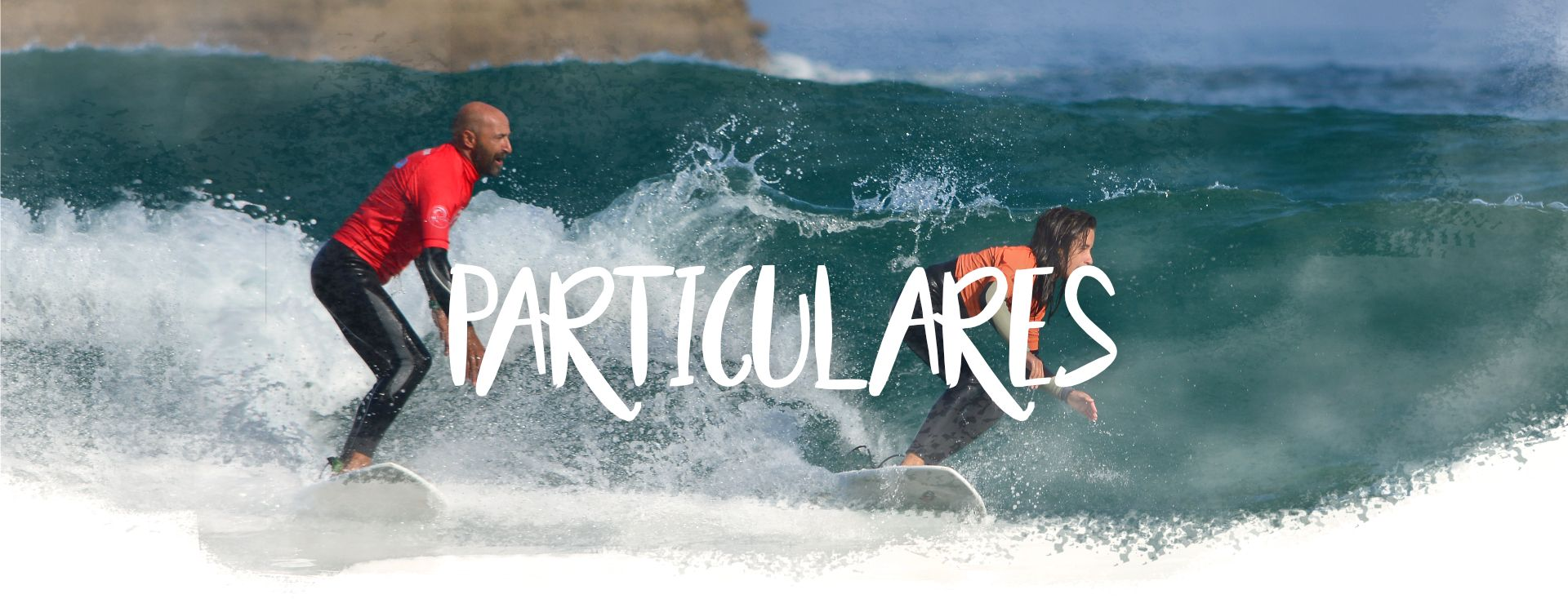 Cabecera clases de surf particulares