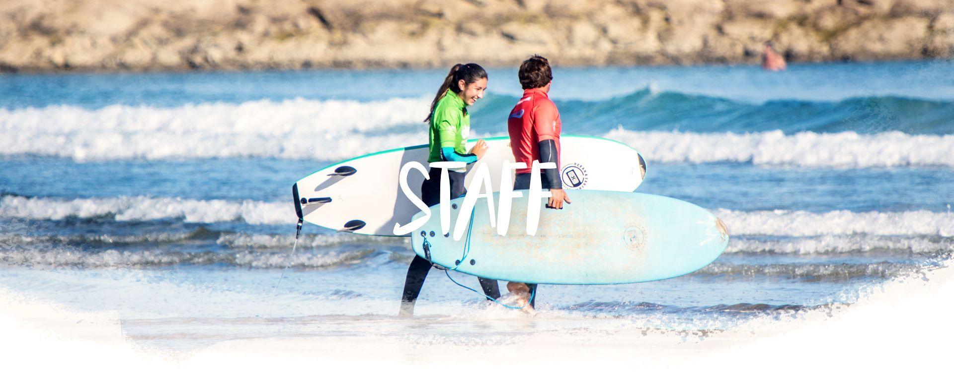 Cabecera staff y profesores de surf Buena Onda