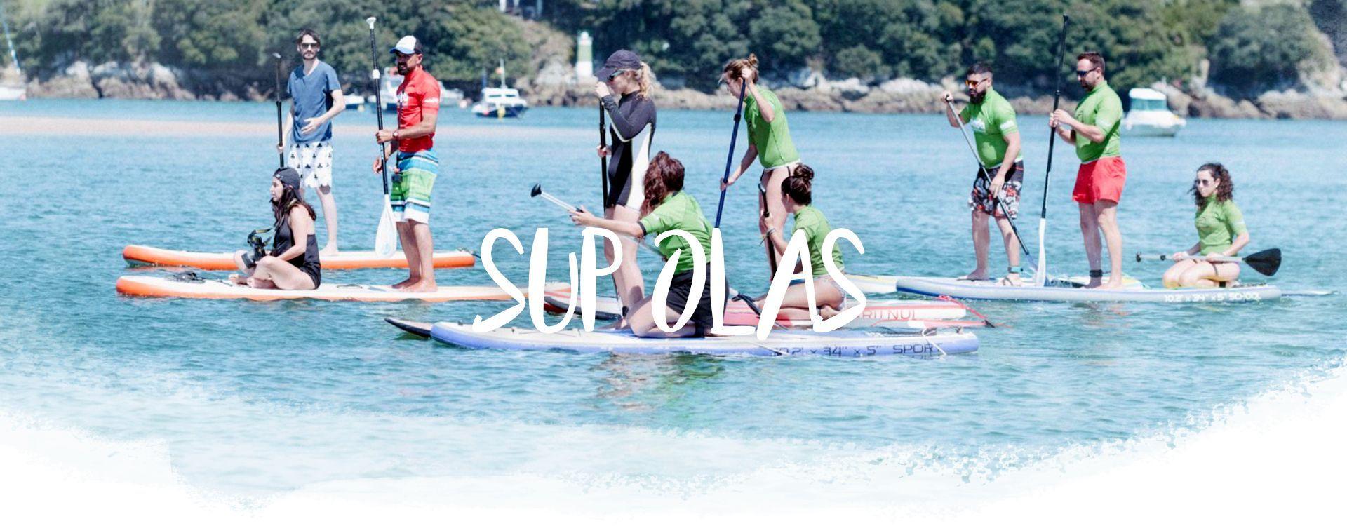 Cabecera clases SUP Olas en San Vicente de la Barquera