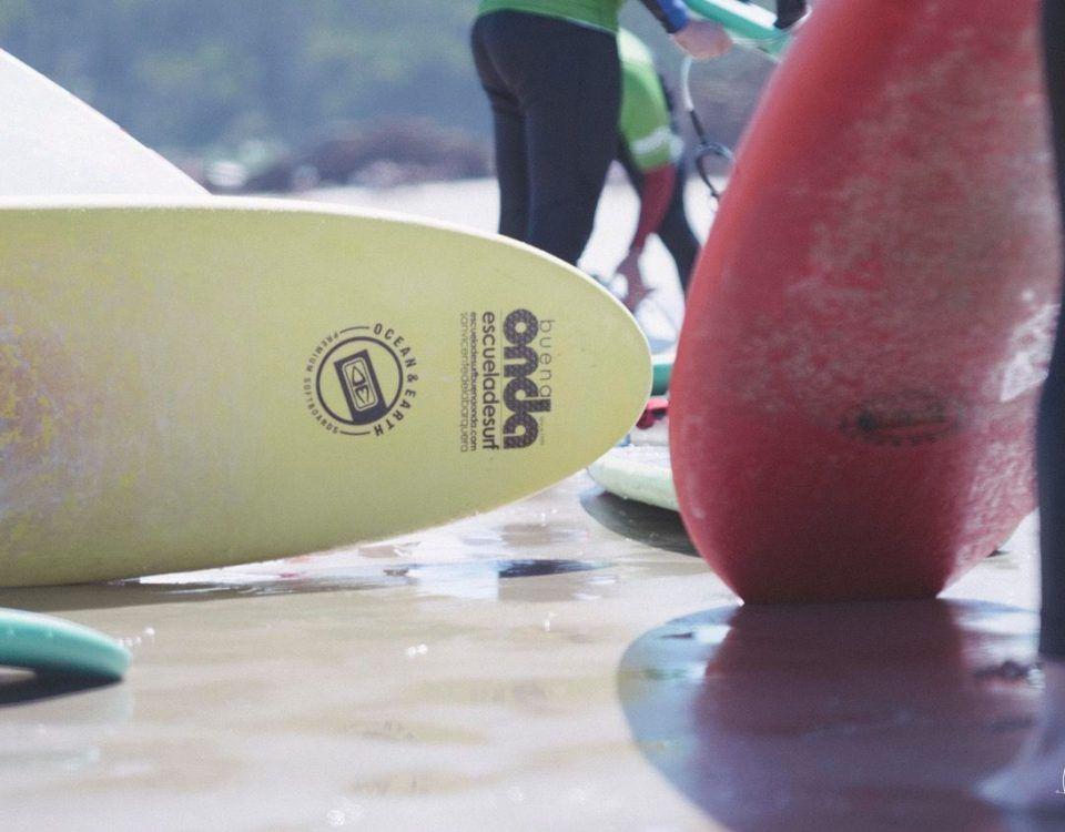 Detalle tabla de surf Buena Onda