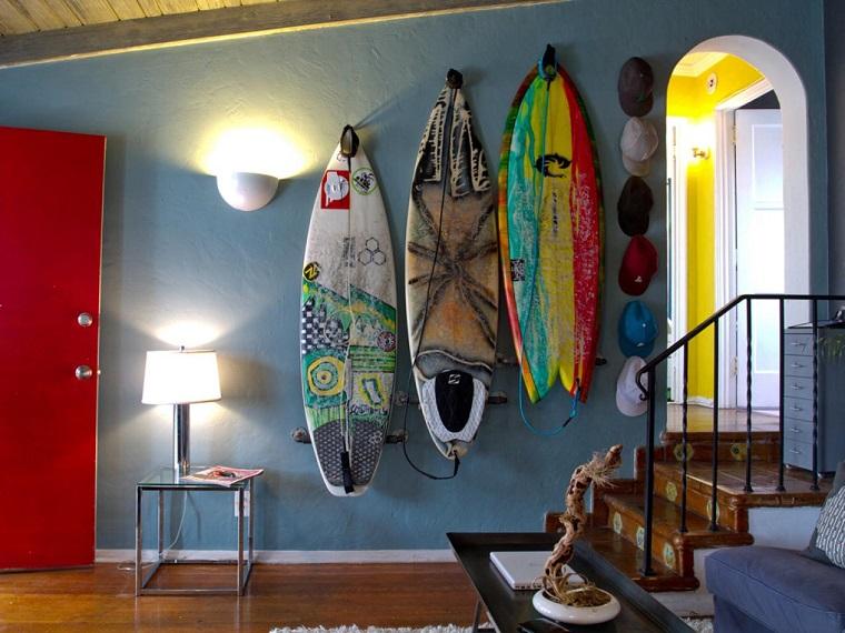 Tablas de surf en casa